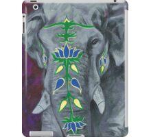 Painted Elephant - purple background iPad Case/Skin