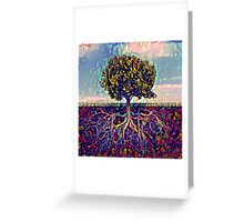 Abstract Tree of Life Greeting Card