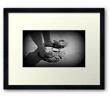 Mans feet Framed Print