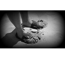 Mans feet Photographic Print