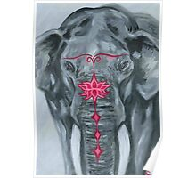 Painted Elephant - Grumpy Poster