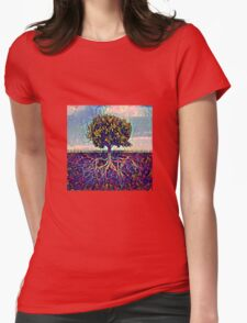 Abstract Tree of Life Womens Fitted T-Shirt