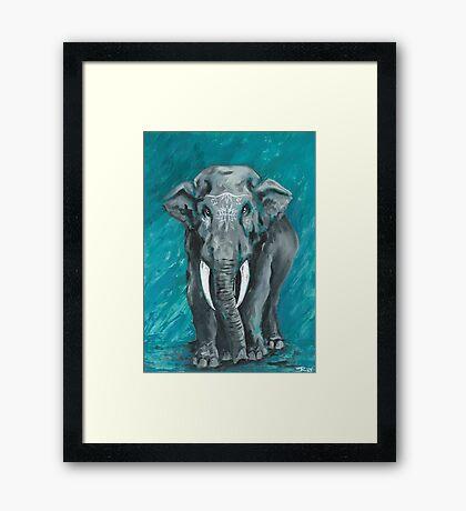 Painted Elephant - one Framed Print