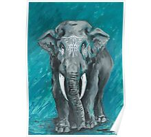Painted Elephant - one Poster