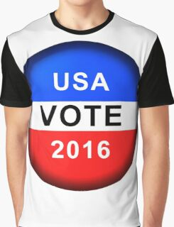 Vote Button 2016 Graphic T-Shirt
