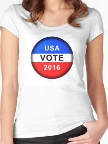 Vote Button 2016 Women's Fitted Scoop T-Shirt