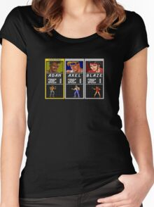 Streets of Rage - Adam Women's Fitted Scoop T-Shirt