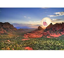 Screaming Sun Sedona. Photographic Print