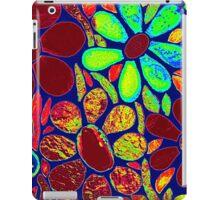 Psychedelic Neon Flowers - Mosaic Art iPad Case/Skin