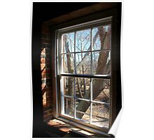 Old Mill Window Poster