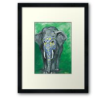 Painted Elephant - Masked Framed Print