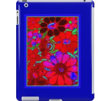 Psychedelic Red Flowers - Mosaic Art iPad Case/Skin
