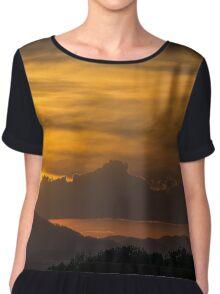Sunset Cloudscape Chiffon Top