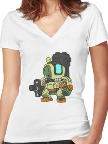 Bastion Graphic Women's Fitted V-Neck T-Shirt