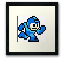 Mega Man Running Framed Print
