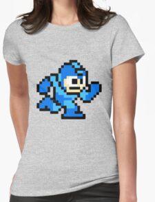 Mega Man Running Womens Fitted T-Shirt