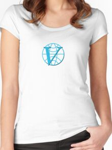 Venture Industries logo Women's Fitted Scoop T-Shirt