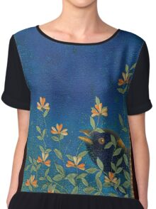Night Garden Women's Chiffon Top