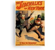 Sidewalks of New York Canvas Print