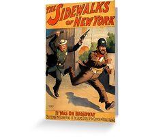 Sidewalks of New York Greeting Card