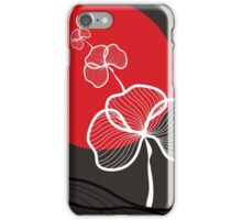 Trio In Red Dusk iPhone Case/Skin