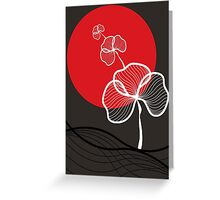 Trio In Red Dusk Greeting Card