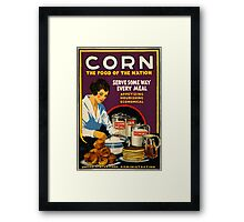 Corn, the Food of a Nation Framed Print