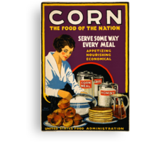 Corn, the Food of a Nation Canvas Print