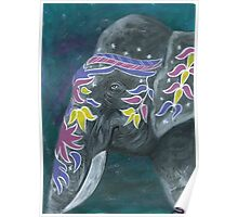 Painted elephant - Profile Poster