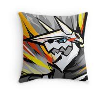 Aggron   Metal Burst Throw Pillow