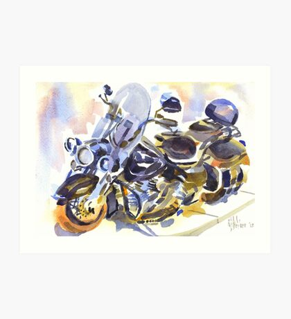 Harley in Watercolor Art Print
