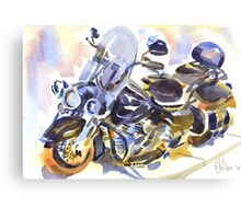 Harley in Watercolor Canvas Print