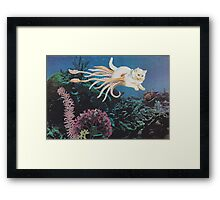 Kittenkraken Framed Print