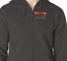 PPE small logo with text (on dark) Zipped Hoodie
