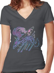 Deer Women's Fitted V-Neck T-Shirt