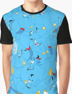 The Many Faces of Genie Graphic T-Shirt