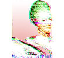 Pink Marie Glitch Photographic Print