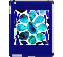 Stained Glass Blue / Purple Flower - Mosaic Art iPad Case/Skin