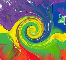 "Energetic Abstractions - ""Colour Wave Twist #1"" by Abstractions"