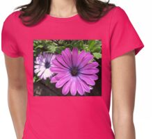 Pink Daisy Delight Womens Fitted T-Shirt