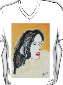 One Brush Woman original painting T-Shirt