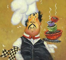 FOUR BOWL CHEF by VickieWade