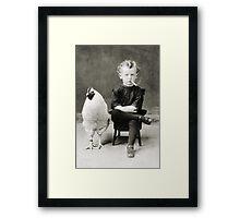 Smoking Child - black/white Framed Print