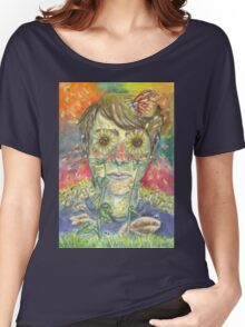 """""""All You Do Is Sit Inside"""" Women's Relaxed Fit T-Shirt"""