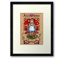 Alice, poster & shirt Framed Print