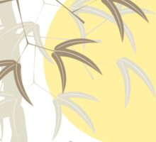 Oriental Yellow Sunrise Bamboo Zen Sticker