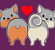 Swedish Vallhund Butts by ihateleeks