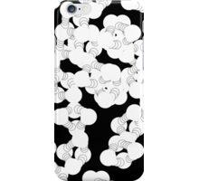 Black polka dot knock out  iPhone Case/Skin