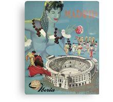 Madrid Iberia Spain Vintage Travel Poster Canvas Print