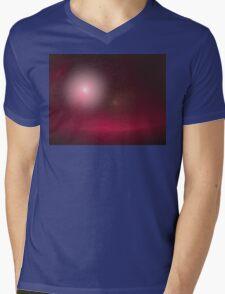 Mauve Starship Mens V-Neck T-Shirt